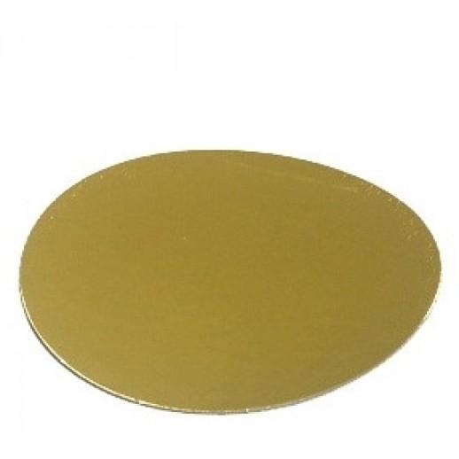 Подложка усилен золото/жемчуг 220мм (толщ1,5мм) GWD220(1,5мм), Подложки и подносы для тортов