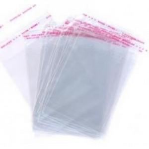 Пакет для пряников 100 шт 10*13 см с липким краем 15909