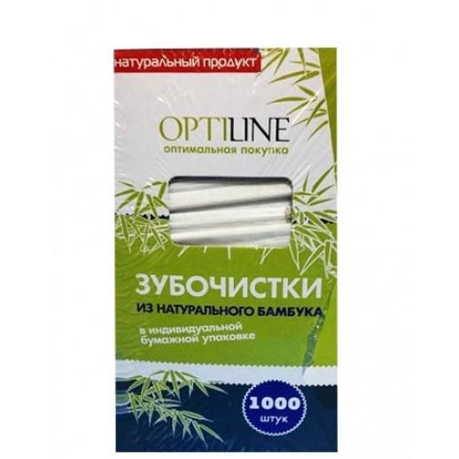 Зубочистки в инд бумажной упаковке 1000 шт OPTILINE 10-2974/2021, РАЗНЫЕ МЕЛОЧИ: кассовая лента, бланк счёта, чайные фильтры, зубочистки,подарочный сертификат