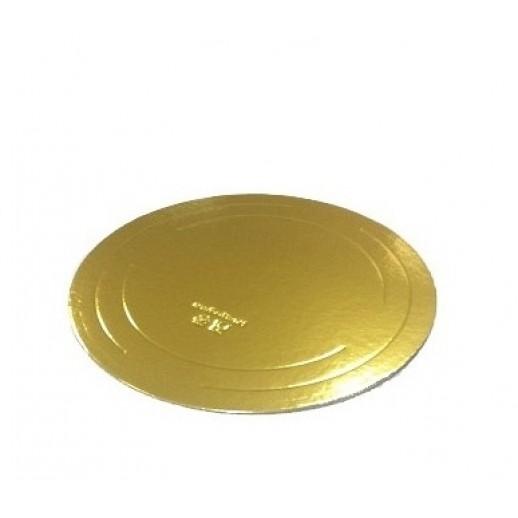 Подложка усилен золото/жемчуг 220мм (толщ3,2мм) GWD220, Подложки и подносы для тортов