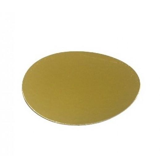 Подложка усилен золото/жемчуг 160мм (толщ1,5мм) GWD160(1,5мм), Подложки и подносы для тортов