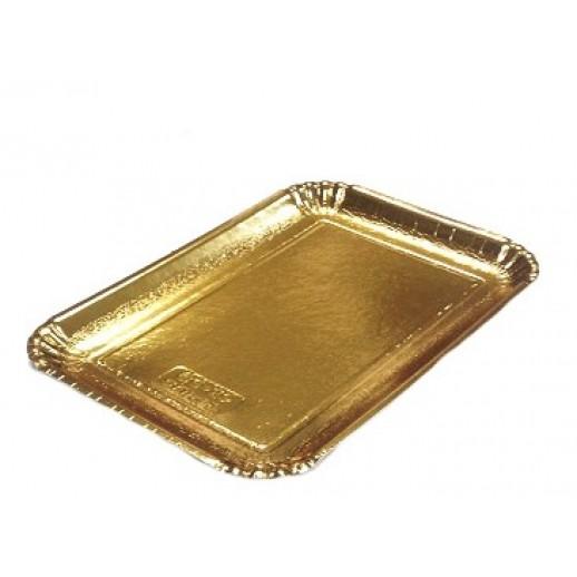 Декоративный поднос цвет золото 279*199 мм 65187, Подложки и подносы для тортов