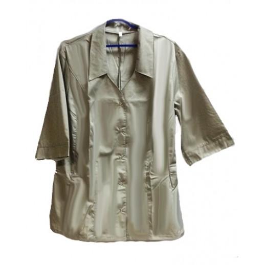 Куртка женская серая с кор. рукавом,тк. Тиси, Спецодежда (ткань)