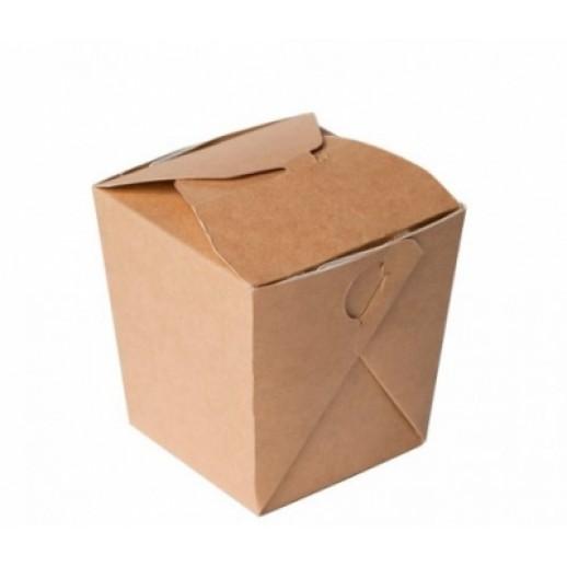 Упаковка ECO NOODLES 560 90*90*100 мм, Картонная упаковка, бумажные крафт пакеты