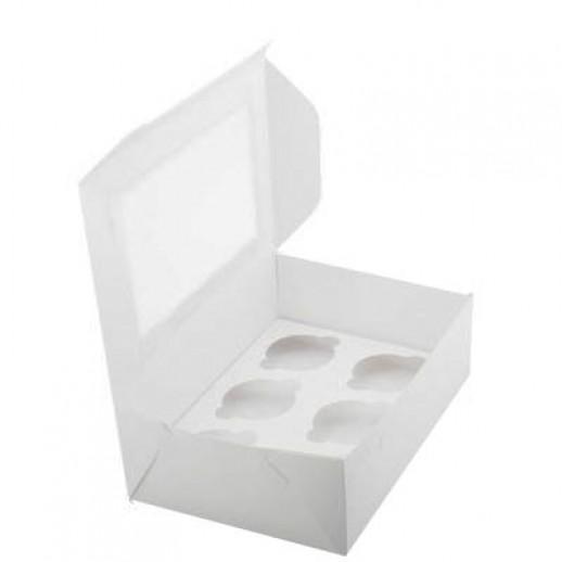 Упаковка для капкейков на 6 шт ОКНО 250*170*100 мм, Тортницы, коробки для торта и пирожных