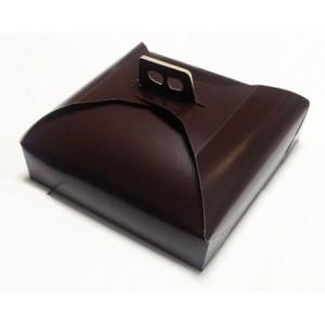 Короб для торта 33*33 см коричневая 34868