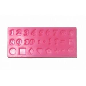 Молд силикон Цифры и символы 7*15,5 см 80183