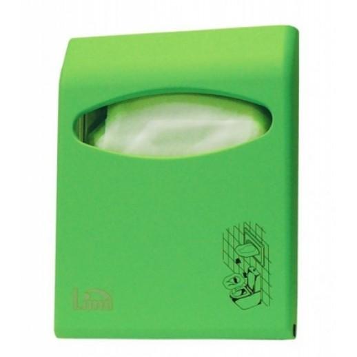 Диспенсер для покрытий на унитаз Lime COLOR mini зеленый 66210VES, Диспенсеры для полотенец, мыла, туалетной бумаги