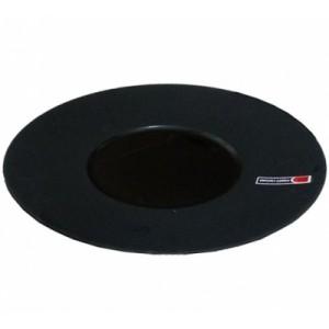 Тарелка круглая 12,5*26 см черная PL 81200049 Clossy Black