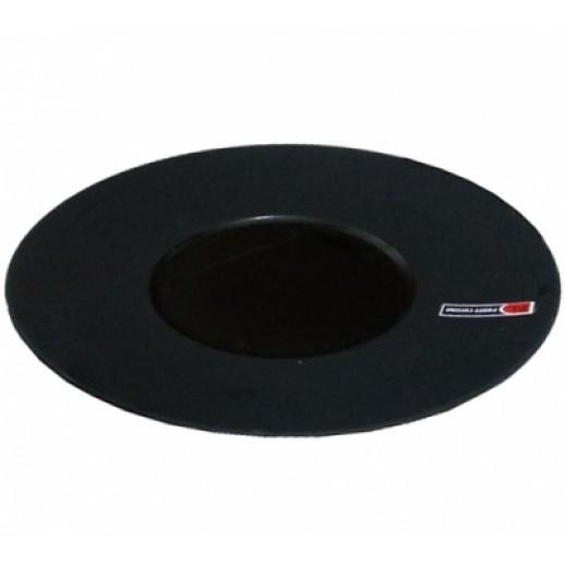 Тарелка круглая 12,5*26 см черная PL 81200049 Clossy Black, Фарфоровая посуда KUNST WERK P. L.