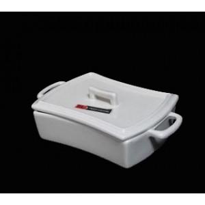 Блюдо фарфор с ручками и крышкой д/запекания и подачи 12,5см PL 99002706