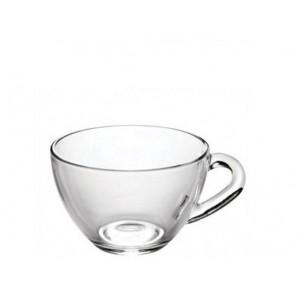 Чашка 200 мл Прага прозрачное стекло  1416