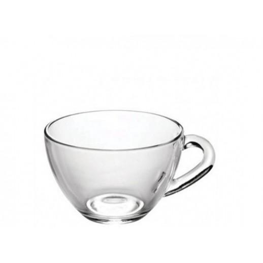Чашка 200 мл Прага прозрачное стекло  1416, Стаканы и кружки