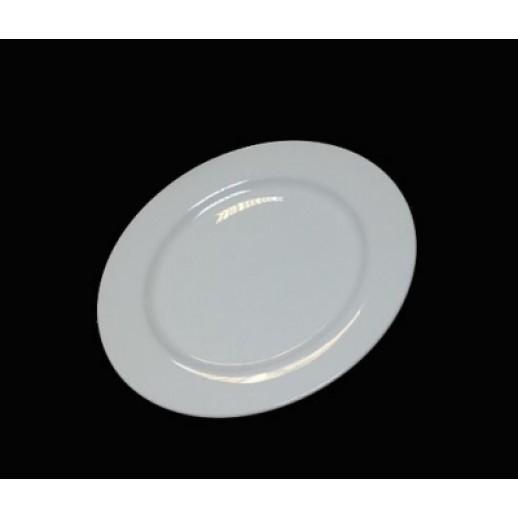 КОЛЛАЖ Тарелка мелкая 175 мм слоновая кость 0176ФК, Китайский фарфор