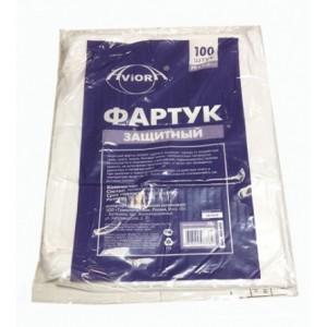 Фартук одноразовый прозрачный 100 шт AVIORA 402-692