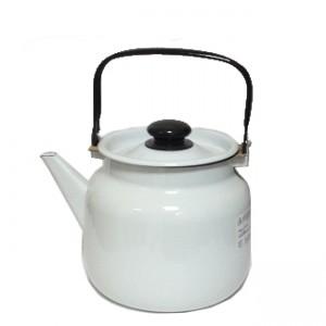 Чайник эмалированный 3,5 л светлый