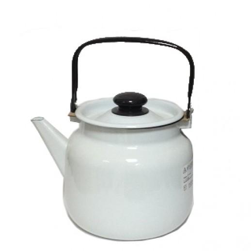 Чайник эмалированный 3,5 л светлый, Чайники