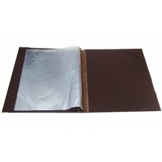 Папка-меню 32,5*24 2-х сторон кожзам бежевая съемные файлы, Барные принадлежности