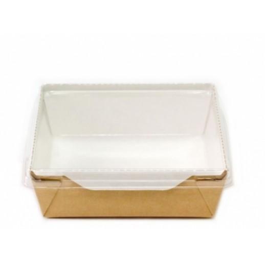 Упаковка ECO OpSalad 1200 165*165*65 мм, Картонная упаковка, бумажные крафт пакеты
