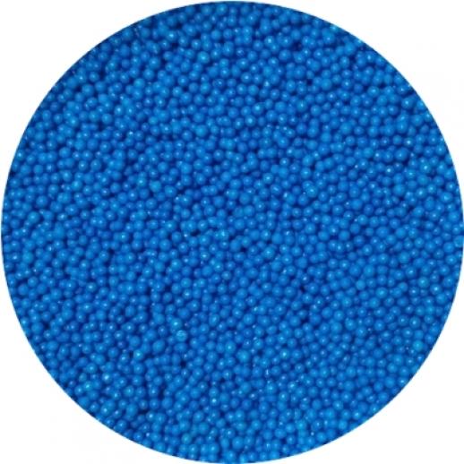 Посыпка сахарная шарики синие 1 мм 100 гр 19947, Украшения для торта, кондитерские посыпки