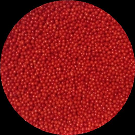 Посыпка сахарная шарики красные 1 мм 100 гр 23203