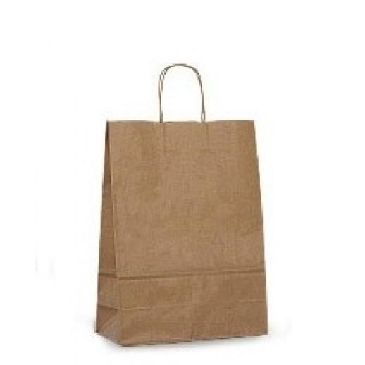 Упаковка ECO CarrBAG 24*14*28 с ручками, Картонная упаковка, бумажные крафт пакеты