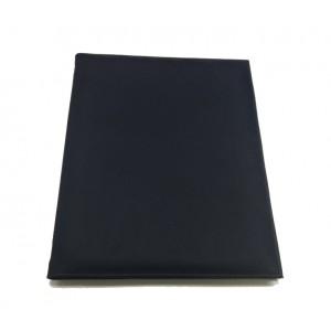 Папка-меню 32,5*24 2-х сторон кожзам синяя съемные файлы