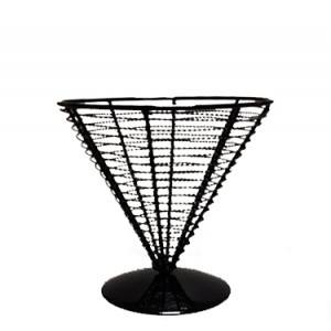 Корзинка конус для подачи сталь черн 18*17,5 см PL 81210327