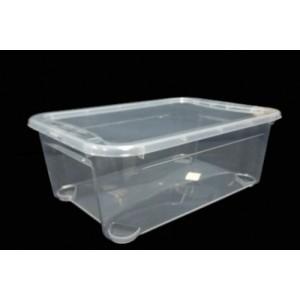 Контейнер для пищ продуктов прямоуг 10 л 39*27,5*14,5 см п/п Кристалл Restola 431275101
