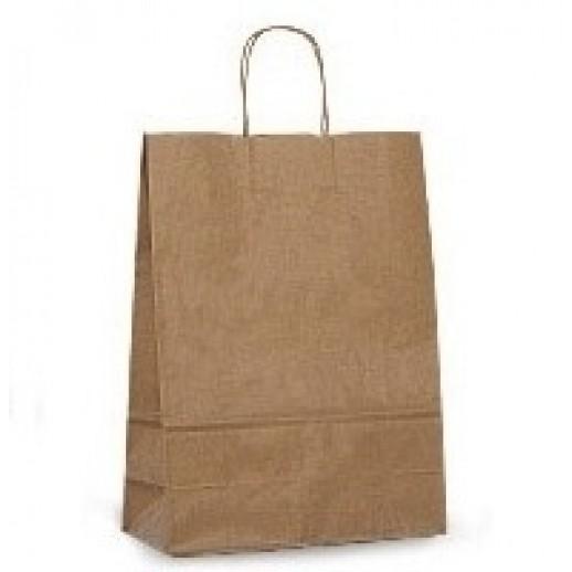 Упаковка ECO CarrBAG 35*15*45 КРАФТ с ручками, Картонная упаковка, бумажные крафт пакеты