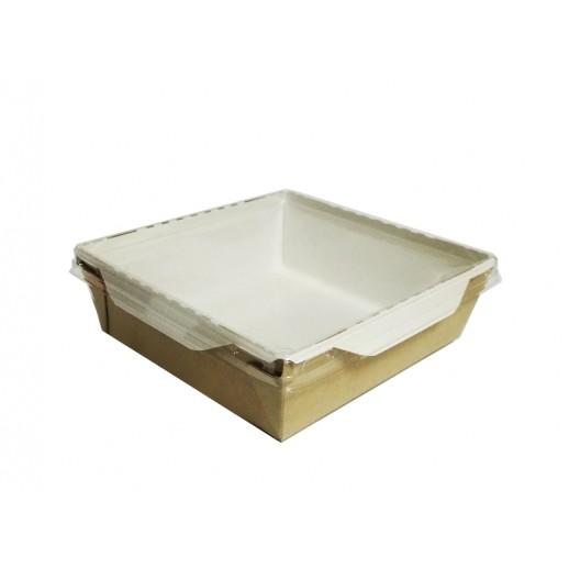 Упаковка ECO OpSalad 900 150*150*50 мм, Картонная упаковка, бумажные крафт пакеты