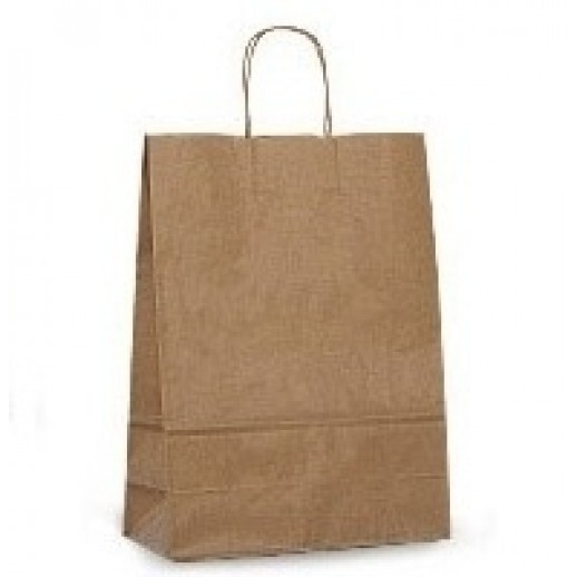 Упаковка ECO CarrBAG 32*20*37 с ручками, Картонная упаковка, бумажные крафт пакеты