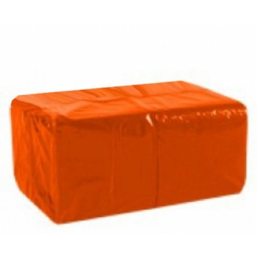 ЛАЙМ Салфетки 33*33 1-сл 400 шт оранжевые 610250