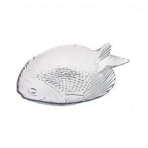 Тарелка стекло Рыба/марине 198*158 10256