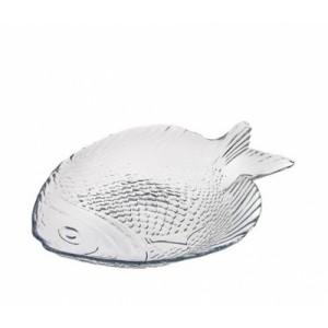 Тарелка стекло Рыба/марине 260*210 10257