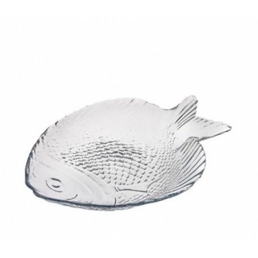 Тарелка стекло Рыба/марине 260*210 10257, Креманки и салатницы