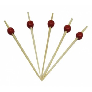 Пика 12 см Большая красная жемчужина 100 шт OPTILINE 10-1147