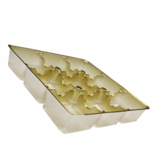 Контейнер 9 секций для пирожных и конфет 17,5*17,5*3 см ИП-9, Одноразовая посуда, пластиковые контейнеры