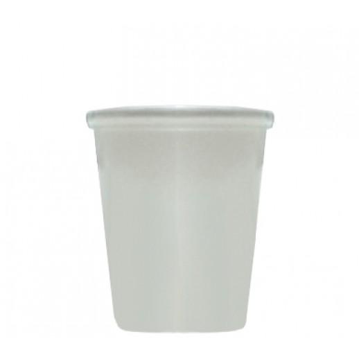 Упаковка ECO SOUP 340 мл БЕЛАЯ с прозрачной крышкой 12W, Картонная упаковка, бумажные крафт пакеты