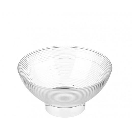 Креманка одноразовая пластик 250 мл Средняя миска d 10,5 h 5,5 см б/крышки 12 шт 5013, Одноразовая посуда, пластиковые контейнеры