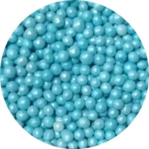 Посыпка сахарная шарики голубой жемчуг 3 мм 100 гр 36784