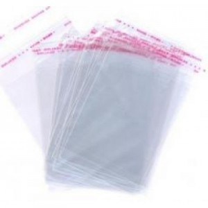 Пакет для пряников 100 шт 15*15,5 см с липким краем 80117