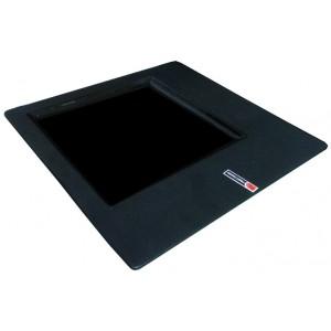 Тарелка квадратная черная 30*30 см с квадратным центром 20*20 см PL 81200058