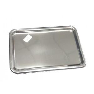 Поднос пластиковый 25*35 см серебро PL 81210051