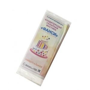 Мастика 0,1 кг сахарная белая универсальная ФАНСИ