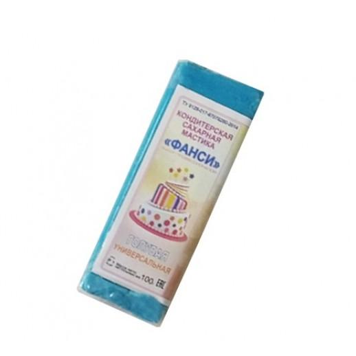 Мастика 0,1 кг сахарная голубая универсальная ФАНСИ, Сахарная мастика для торта