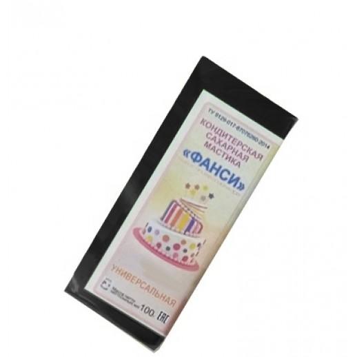 Мастика 0,1 кг сахарная черная универсальная ФАНСИ, Сахарная мастика для торта