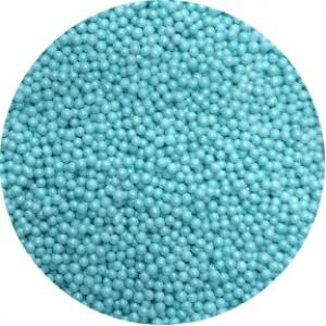 Посыпка сахарная шарики голубые перламутр 2 мм 100 гр 20134