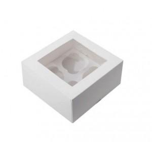 Упаковка для капкейков на 4 шт ОКНО 160*160*100 мм