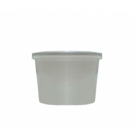 Упаковка ECO SOUP 240 мл БЕЛАЯ с прозрачной крышкой 8W, Картонная упаковка, бумажные крафт пакеты
